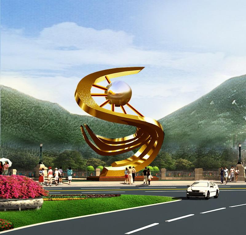 学生设计雕塑作品被攀枝花米易县政府采用
